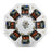 Stark Level 8 High Power Disc Brushless Stator Silicon Steel Core Motor Engine Model - stirlingkit