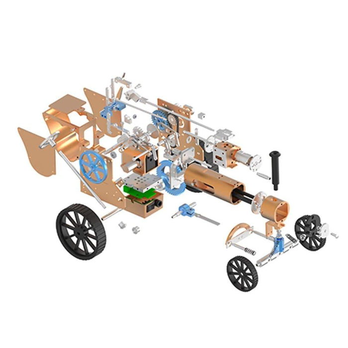Steam Car Model Full Metal Model Toy Collection Gift Decor All-metal High Challenge Assembly Kit - stirlingkit
