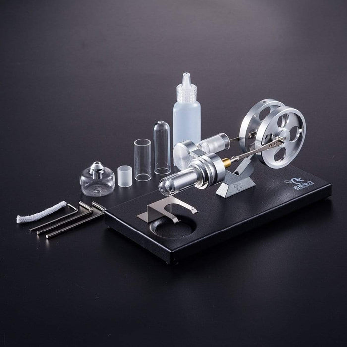 Stirling Engine Kit DIY Hot Air Electricity Power Generator Model Education Toy - stirlingkit