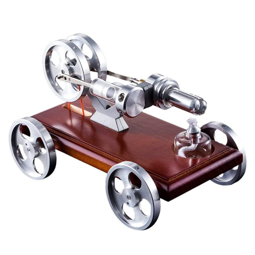 Stirling Engine Kit DIY Stirling Engine Car Model Kit With Solid Wood Baseplate - stirlingkit