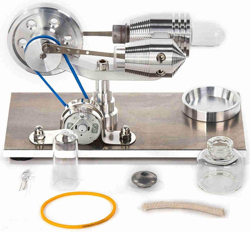 Stirling Engine Kit Exterior Combustion Engine Enhanced Education Model DIY Steam STEM Toys - stirlingkit