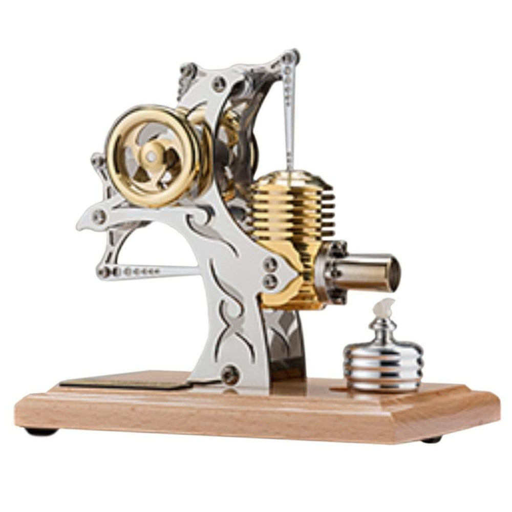 Stirling Engine Kit High-end Precision All-metal Single-cylinder Assembled Movable Metal Mechanical Engine Model - stirlingkit