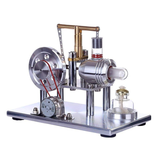 Stirling Engine Kit Hot Air Engine Motor Model Educational Toy Electricity Generator Colorful LED - stirlingkit