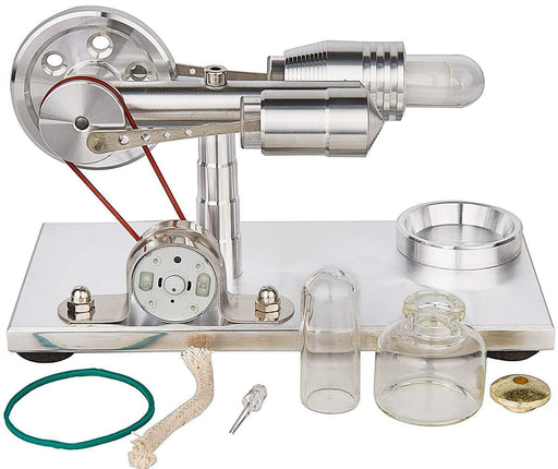 Stirling Engine Kit Mini DIY Model Hot Air Quartz Cylinder Steam Powered Toy Physics Experiment - stirlingkit