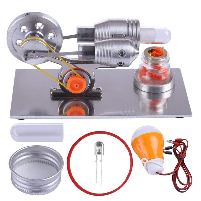 Stirling Engine Kit Mini Hot Air Motor Model Educational STEM Toy Science Experiment Kit - stirlingkit