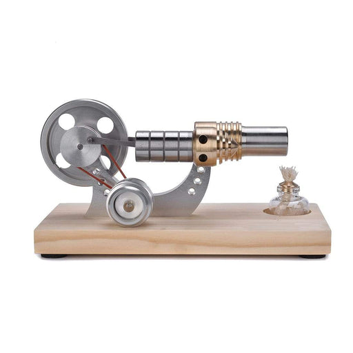 Stirling Engine Kit Mini Hot Air Motor Model Educational Toy Kits Metal Cylinder Bootable - stirlingkit