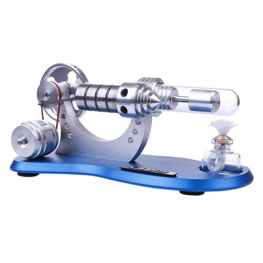 Stirling Engine Kit Mini Hot Air Motor Model Electricity Generator Metal Base Physics Science Educational Toy - stirlingkit