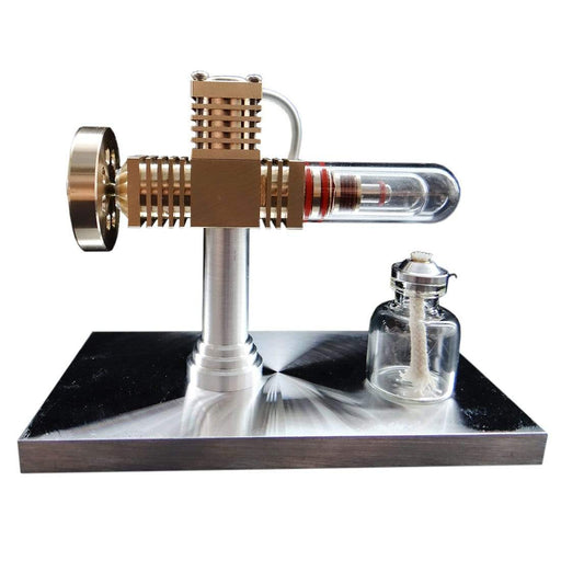 Stirling Engine Kit Model Quartz Heat Pipe Free-piston High-end Creative Gifts for Collection - stirlingkit