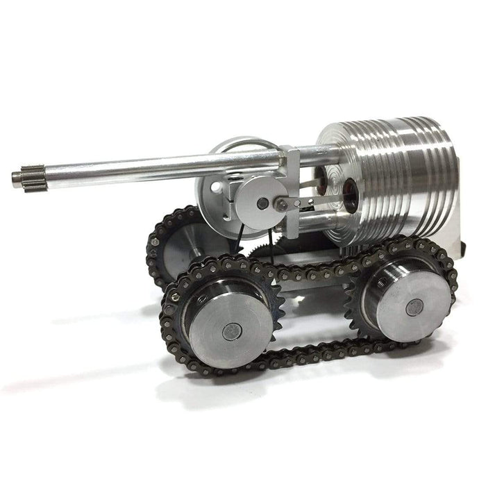 Stirling Engine Kit Tank Motor Power Generator Model Piston Motor Engine Model Toy - stirlingkit