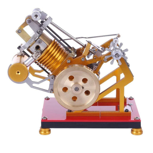 Flame Flicker Stirling Engine Kit V1-45 Engine Model Educational Collection Gift - stirlingkit