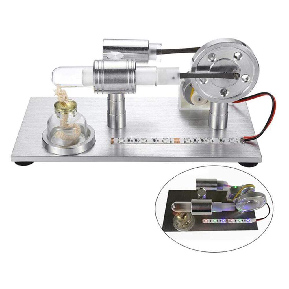 Stirling Engine Model External Combustion Model Toy With LED Light - stirlingkit