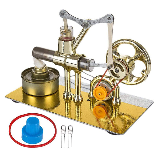 Stirling Engine Model Kit Single Cylinder Balance Science Experiment Kit with All-metal Base - stirlingkit