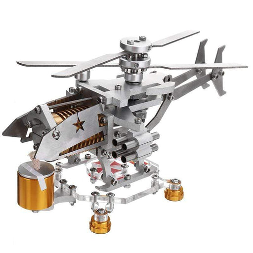 Stirling Engine Model Military Helicopter Design Science Metal Toy Collection Children Kids Educational Experiment - stirlingkit