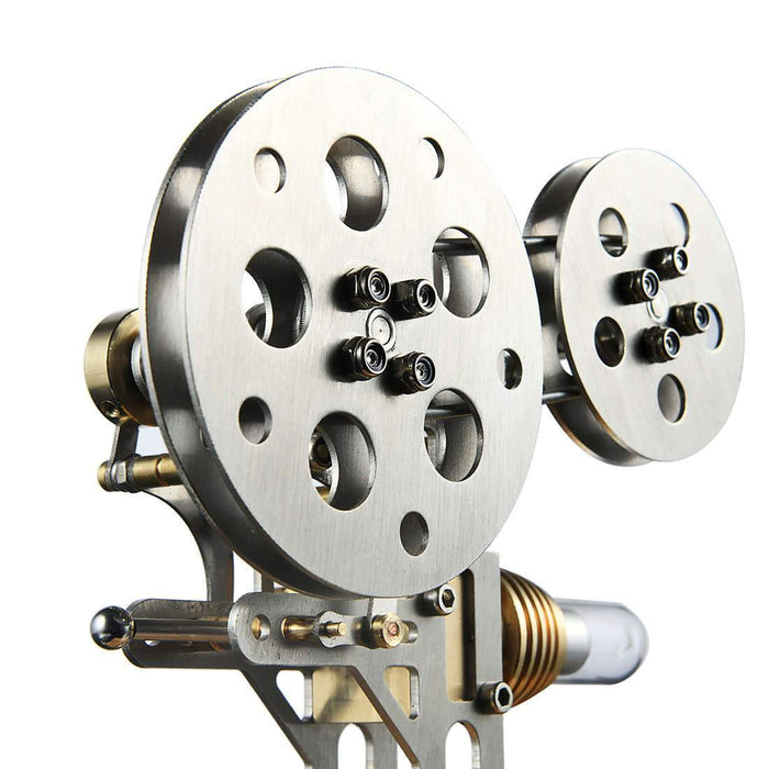 Stirling Engine Model Nostalgic Film Projector Style Retro External Combustion Engine Model - stirlingkit