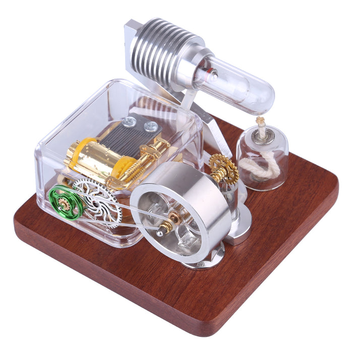 Mechanical Music Box Powered Stirling Engine Model Toy - stirlingkit