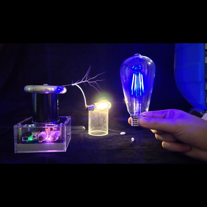 Table Top High Power Music Arc Tesla Coil Artificial Lightning Wireless Power - US Plug - Stirlingkit