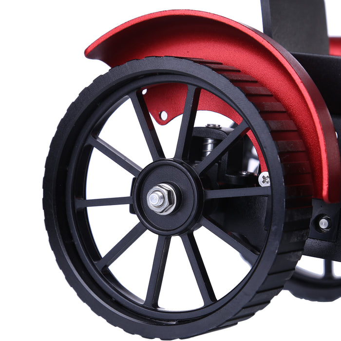 Teching Assembly Simulative Mini APP Controlled Electric Metal Red Tractor Model Toy Gift - stirlingkit