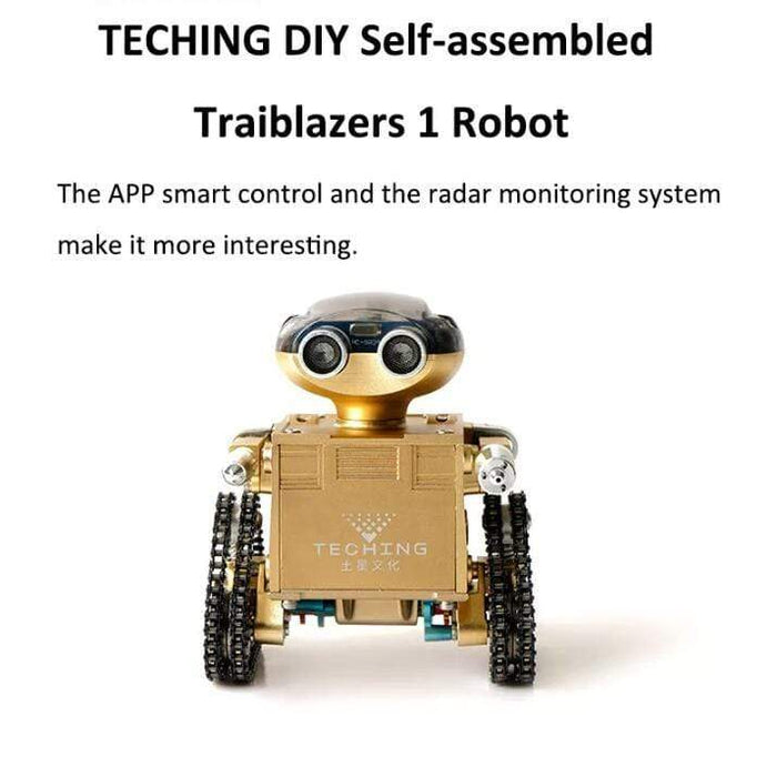 TECHING DIY Traiblazers 1 Self-assembled APP Control Smart Delicate Robot for Android System - stirlingkit