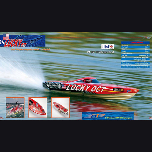 TFL 1126  Lucky OCT Patron Saint Fiberglass Outerlimits Racing Boat ARTR