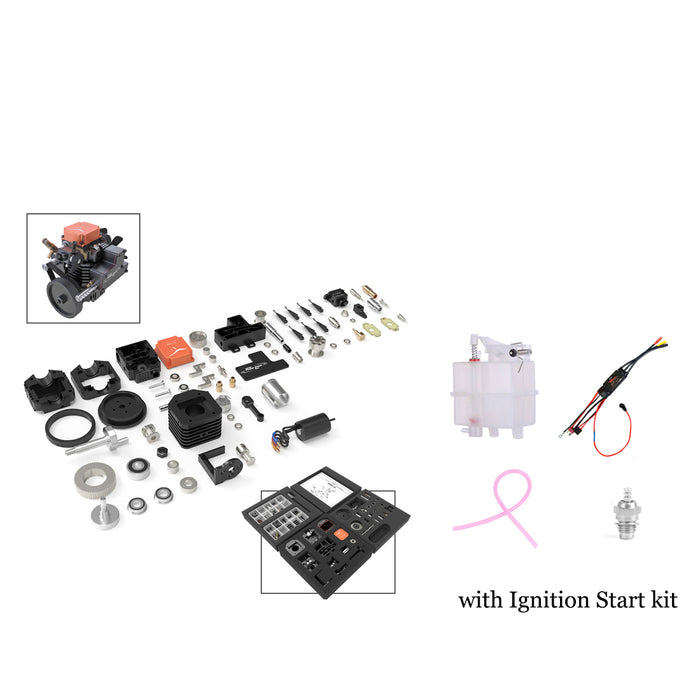 Toyan FS-S100AC DIY 4 Stroke Methanol RC Engine with  Ignition Start Kit - stirlingkit
