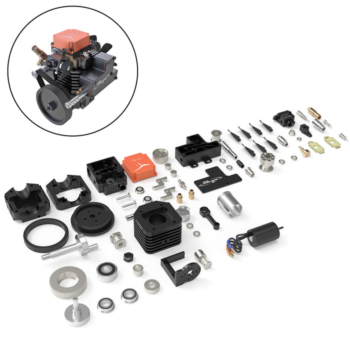 Toyan FS-S100AC DIY Four Stroke Methanol RC Engine with Start Bracket Base For RC Car Boat Plane - stirlingkit