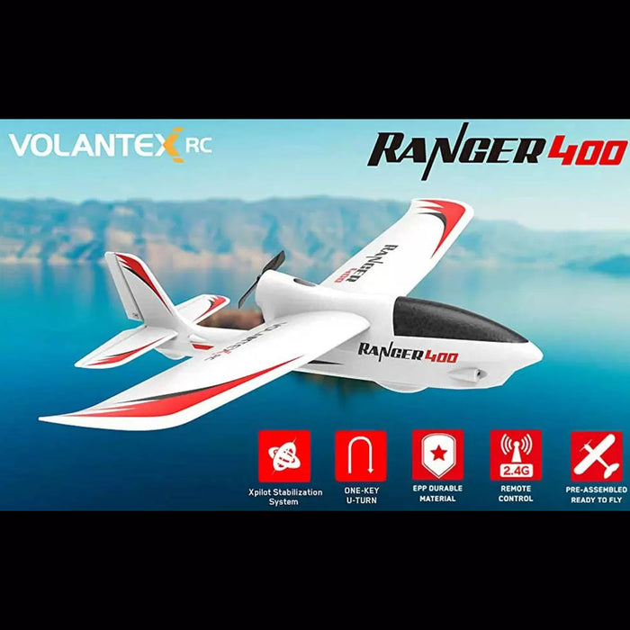 VOLANTEXRC 2.4G Ranger400 Wingspan Glider RC Airplane with Xpilot Gyro Stabilizer - RTF - stirlingkit