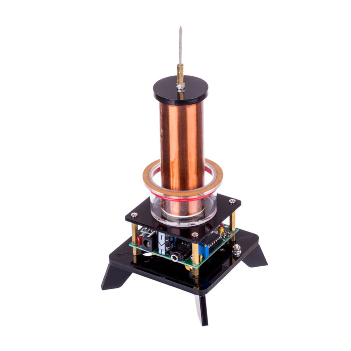 Wireless Power Transmission Table Musical Tesla Coil Plasma Motor Speaker - US Plug - Stirlingkit