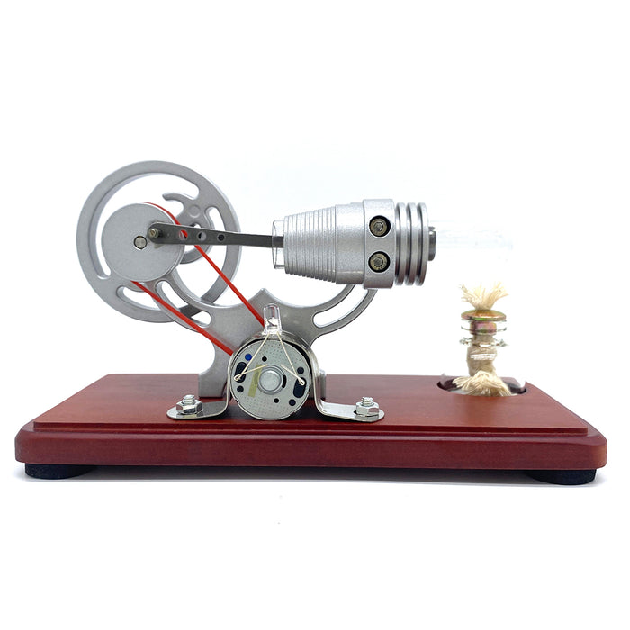 Y-shape Retro LED Stirling Engine Generator Model Educational Science Toy Christmas - stirlingkit