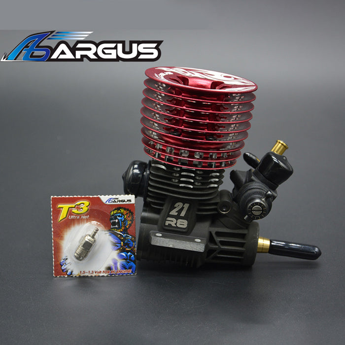 ARGUS-21 R8 .21 5+2P Methanol Engine  for 1/8 Off-road Racing Vehicle - stirlingkit