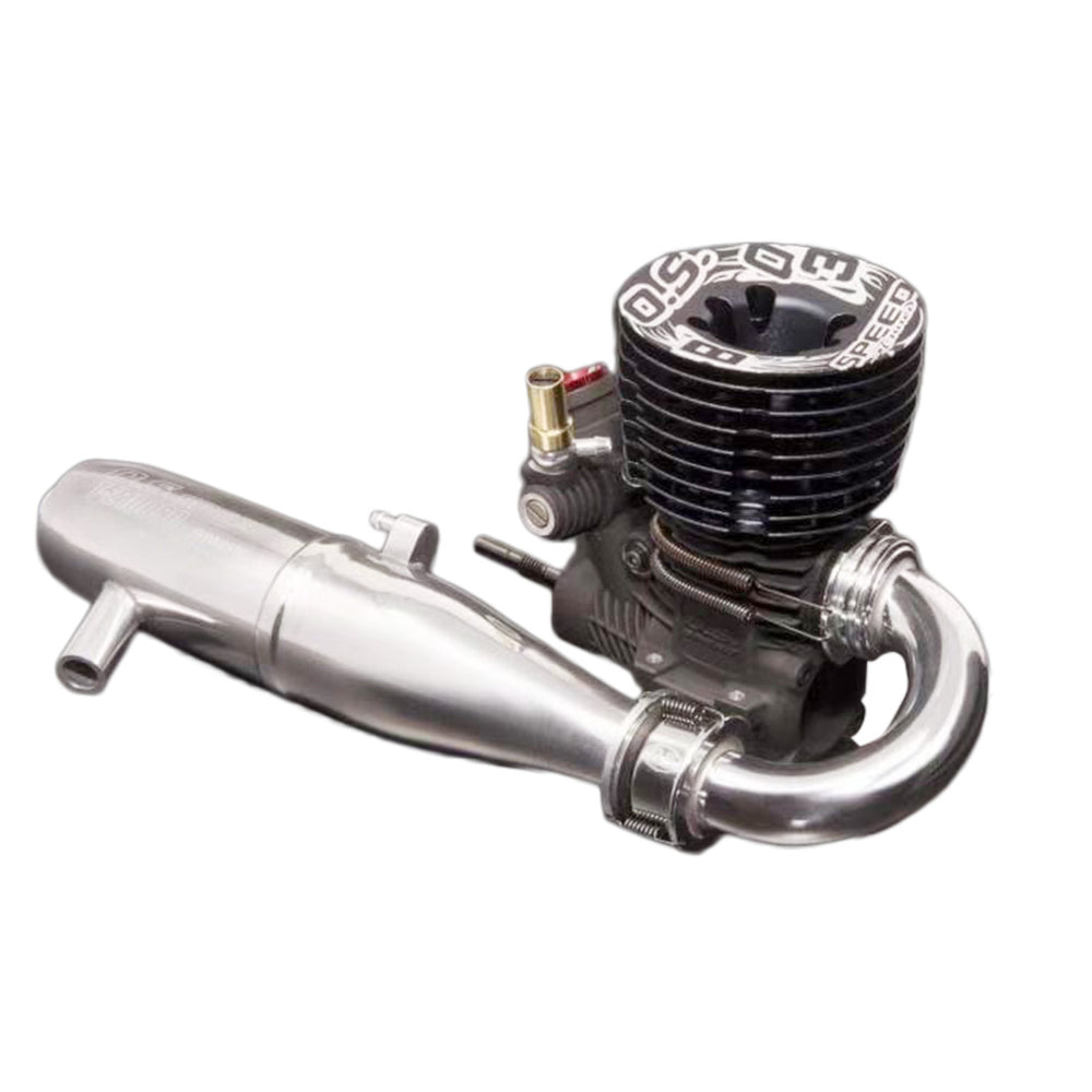 OS Speed B2103 Type R S Methanol Engine Exhaust Pipe Combo Set for 1/8 Off-road Vehicle - stirlingkit