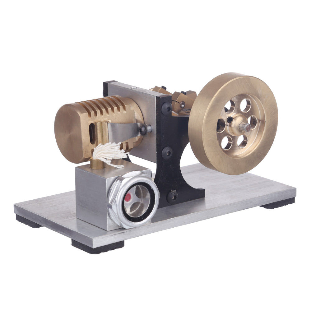 Suction Fire Type Single cylinder Hot Air Stirling Engine Model -Bracket Version - stirlingkit