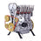 Teching Inline Four-Cylinder Full Aluminum Alloy Assembling Model Science Education Engine for Collection - stirlingkit