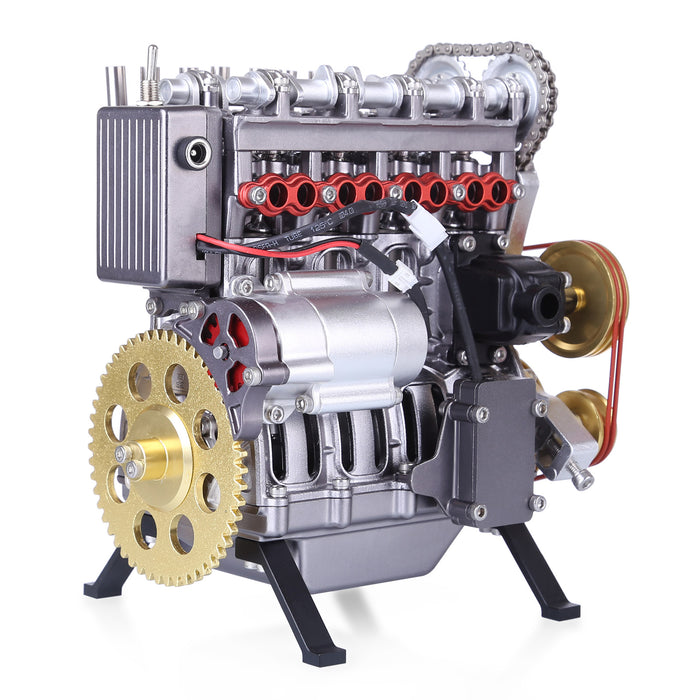 Teching Inline Four-Cylinder Full Aluminum Alloy Assembling Model Science Education Engine for Collection