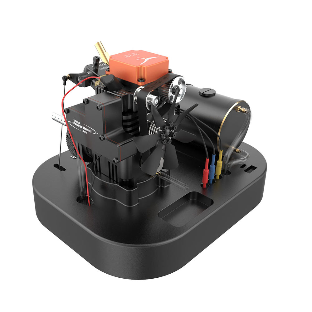 Toyan 4 Stroke Methanol RC Engine FS-S100A Set With Base And All Start Kits - stirlingkit