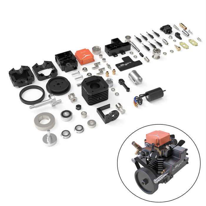 Toyan DIY Four Stroke Methanol RC Engine For RC Car Boat Plane FS-S100AC - stirlingkit
