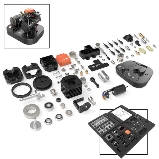 TOYAN FS-S100AC  4-stroke Methanol Engine Assembly Starting Full Set for 1/8 1/10 1/12 RC Car Ship Model - stirlingkit