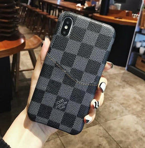 for iPhone 11 Pro Max iPhone XS MAX/XR/6S plus/7 plus/8 plus leather card slot cover (Need You Select Size) re4432w