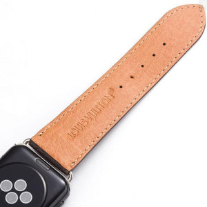 style leather strap, Apple watch strap, brown Damier band, Apple Watch 42 mm/38 mm FT1027-146