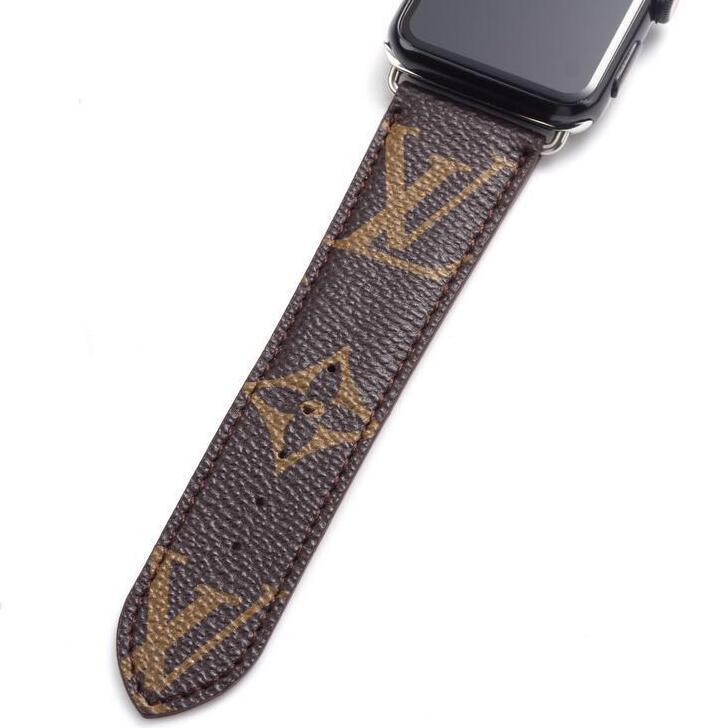 style leather strap, Apple watch strap, brown Monogram band, Apple Watch 42 mm/ 38 mm,FT1027-140