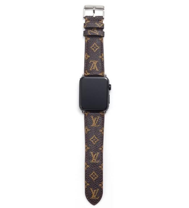 style leather strap, Apple watch strap, small Monogram band, Apple Watch 42mm/38mm FT1027-141