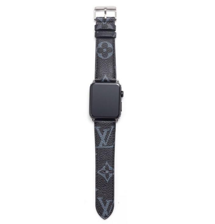style leather strap, Apple watch strap,  Black Monogram band, Apple Watch 42mm/38mm FT1027-143