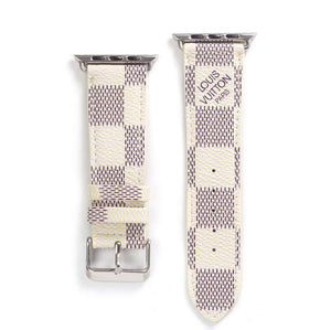 style leather strap, Apple watch strap, White Damier band, Apple Watch 42 mm/38 mm FT1027-145