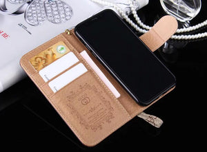 Classic style case (Need You Select Size)For iPhone 11 pro XS MAX/XR/6S plus/7 plus/8 plus leather wallet cover (Need You Select Size)FT11015-G22