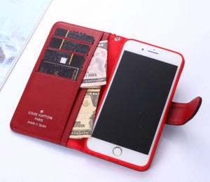 Genuine Leather style case For iPhone 11 Pro Max/XS Max/XR/6s plus/7 plus/8 plus leather wallet case (Need You Select Size) 542tt05