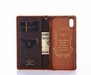 leather wallet case For iPhone 11 Pro Max /Xs Max/XR/6s/7/8 Plus leather wallet case (Need You Select Size)B5T67U