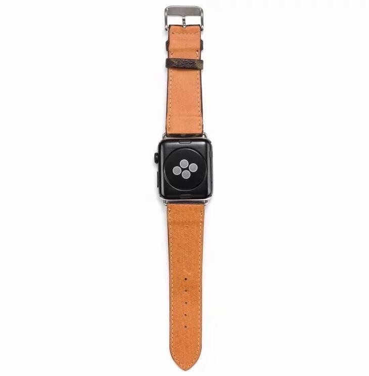 leather strap, Apple watch strap, small Monogram band, Apple Watch /38mm 40mm/42mm/44mm FT88y5