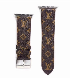 leather strap, Apple watch strap, small Monogram band, Apple Watch /38mm 40mm/42mm/44mm FT99y5