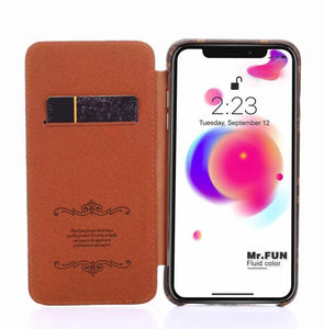 high quality leather wallet case For iPhone 11 pro Xs Max/XR/6s plus/7 plus/8 plus  (Need You Select Size)Eu726