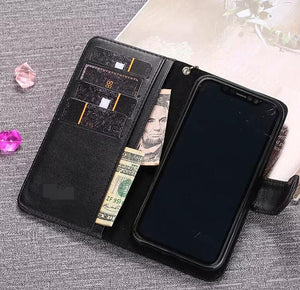 Genuine Leather For iPhone 11 Pro Max/Xs MAX/XR/6 Plus/7 Plus/8 Plus  wallet case (Need You Select Size) T6U8I9