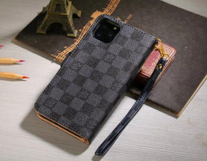 high quality leather wallet case For  iPhone 11/iPhone 11 Pro/ iPhone 11 Pro Max 678d(Need You Select Size)